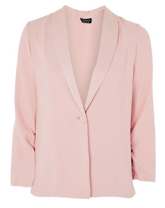 Fall fashion trends: Topshop Ruched Sleeve Blazer | Fall Fashion 2017