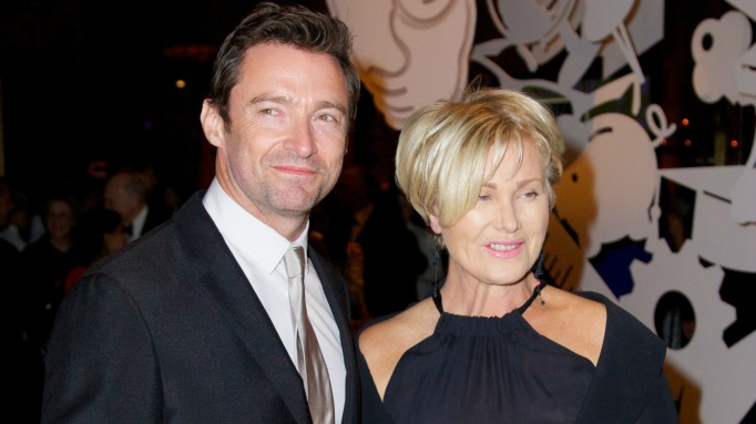 Deborra-lee Furness & Hugh Jackman on red carpet