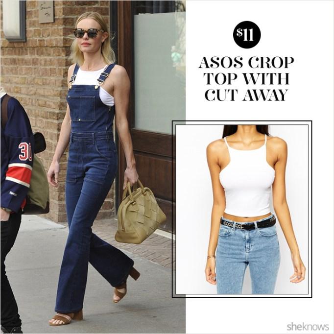 Kate Bosworth in ASOS crop top