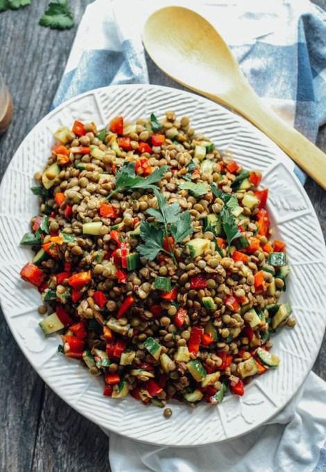 50 Easy Summer Salads: Balsamic Lentil Salad | Summer Eats