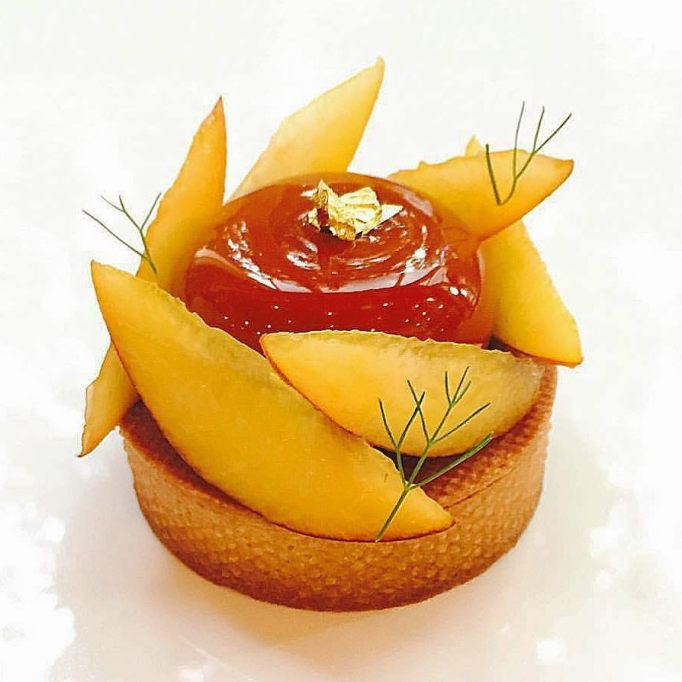 Peach and Hazelnut Tart