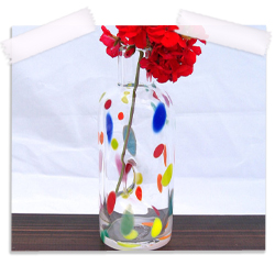 Po' dot hand blown glass bud vase