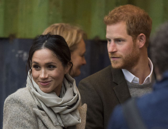 Meghan Markle and Prince Harry at a public event in the UK