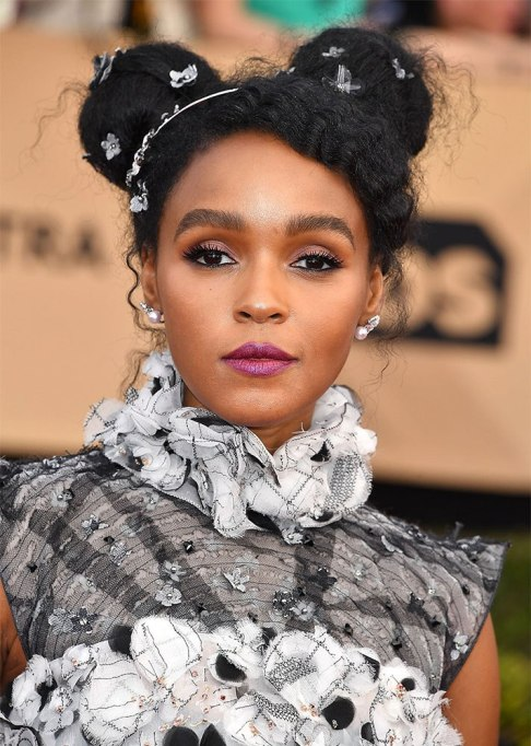 Best Natural Hair Red Carpet Moments of 2017 | Janelle Monáe