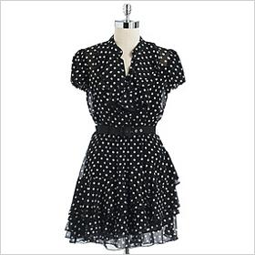 Cynthia Steffe polka dot silk chiffon dress
