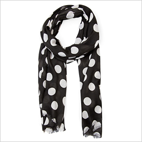 polka dot scarf from Mango