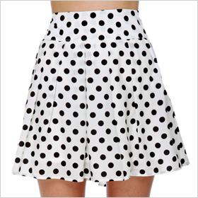 polka dot skirt from Lulus