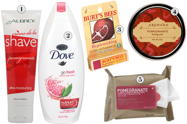 Pomegranate beauty products