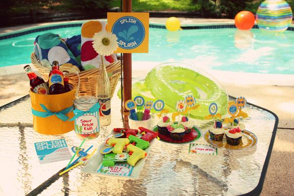 Home beach party setup