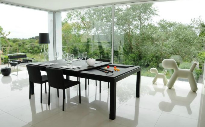 convertible dining room table pool table