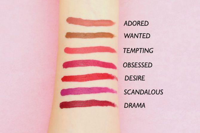 Victoria's Secret Velvet Matte Cream Lip Stain samples