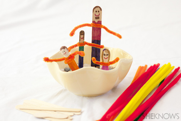 Family stick puppets - Father's Day crafts