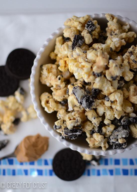 Oreo peanut butter popcorn