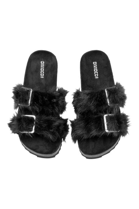 H&M Sandals with Faux Fur