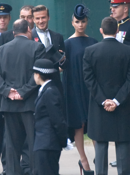 Posh & Becks at the royal wedding