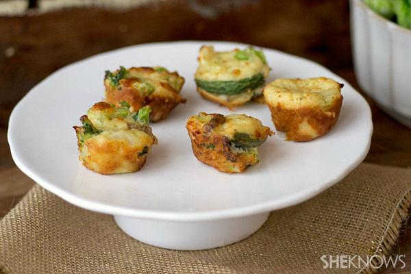 Vegetarian potpie mini-muffins