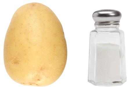 Potato and salt