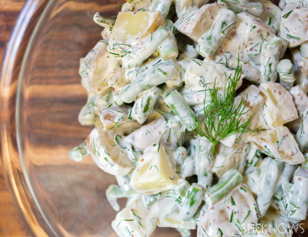 Green beans and potato salad with herbs | SheKnows