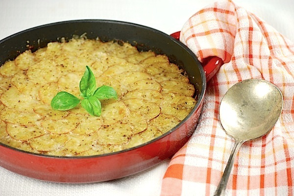Potato and zucchini gratin