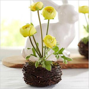 pottery barn faux flower nest
