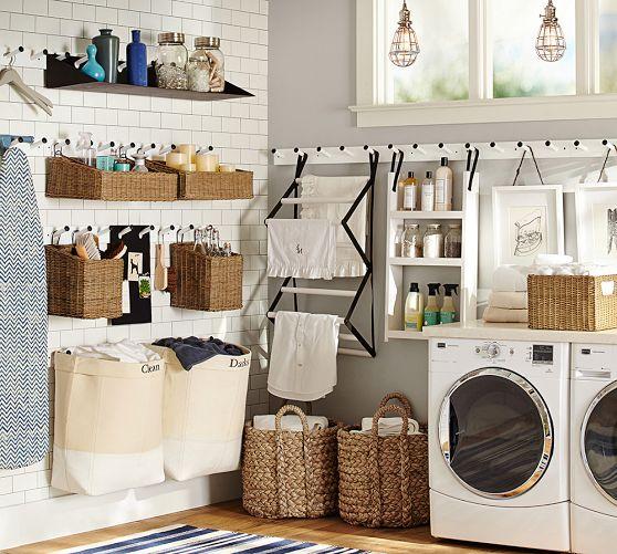 Pottery Barn laundry room