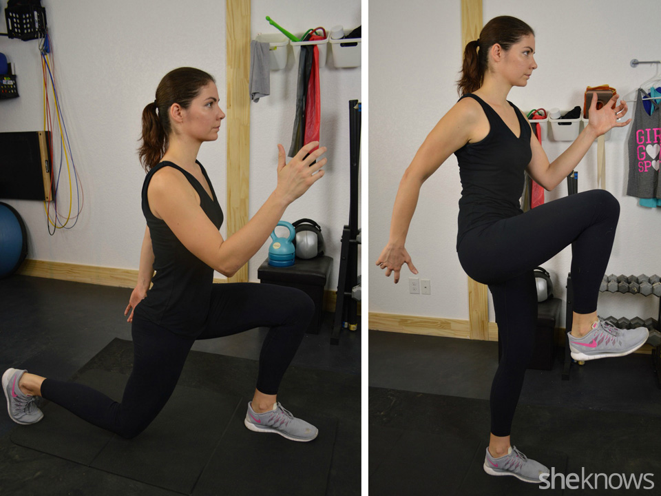 Alternating power lunges