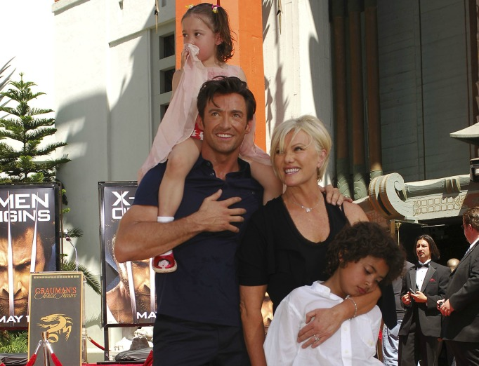 Hugh Jackman and Deborra-Lee Furness with their children
