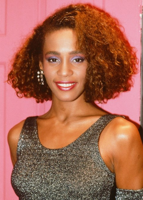 Whitney Houston Curly Hair