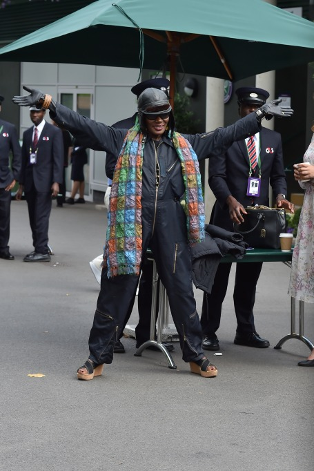 Check out these celebrities at the 2017 Wimbledon tournament: Grace Jones