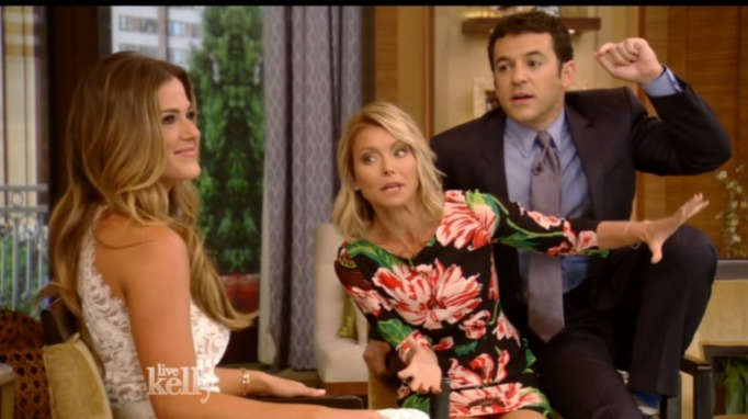 Fred Savage and Kelly Ripa on Live!