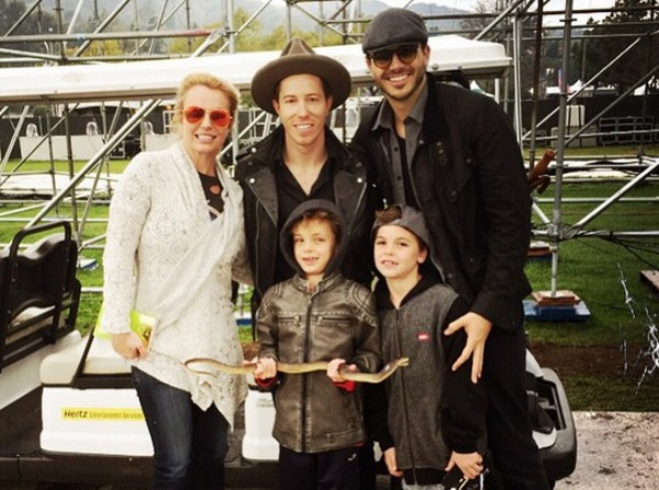 Britney Spears, Sean Federline, Jayden James Federline, Shaun White and Charlie Ebersol