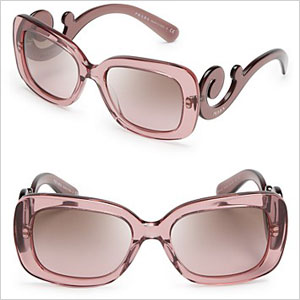 prada square baroque sunglasses