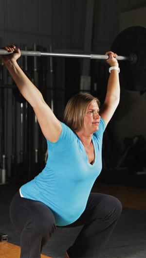 Woman doing CrossFit