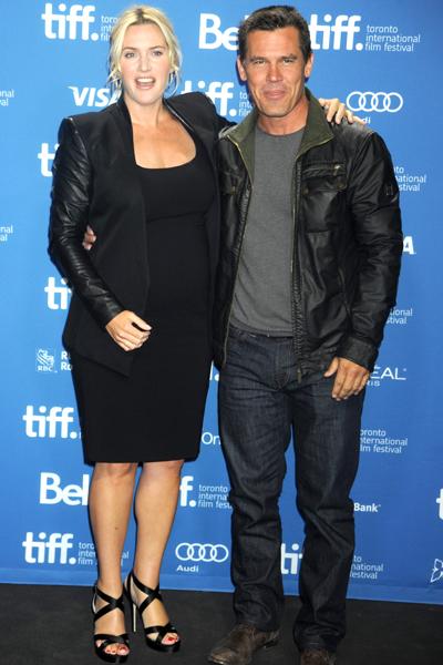 Pregnant Kate Winslet and Josh Brolin