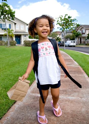 Preschooler with Lunch