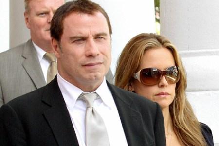 John Travolta and Kelly Preston leaving a Bahamas courtroom