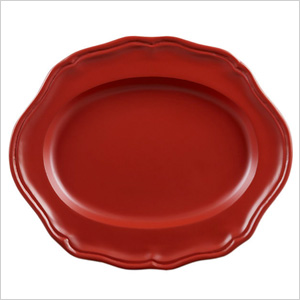 bold red platter