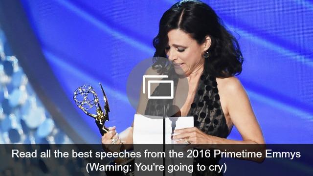 2016 Primetime Emmys speeches
