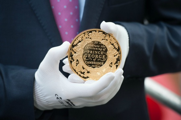 Prince George christening coin