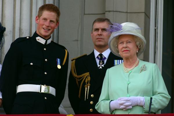 Prince Harry Prince Andrew Queen Elizabeth