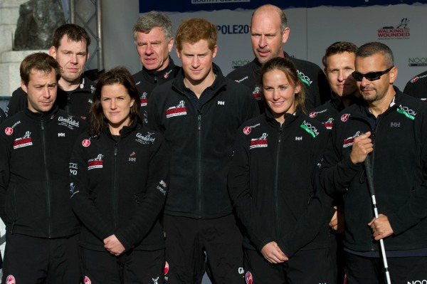 Prince Harry & Walking Wounded team