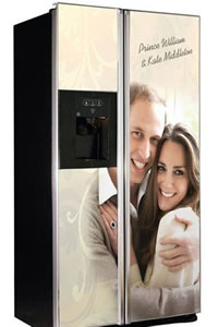 Prince William and Kate Middleton Refrigerator