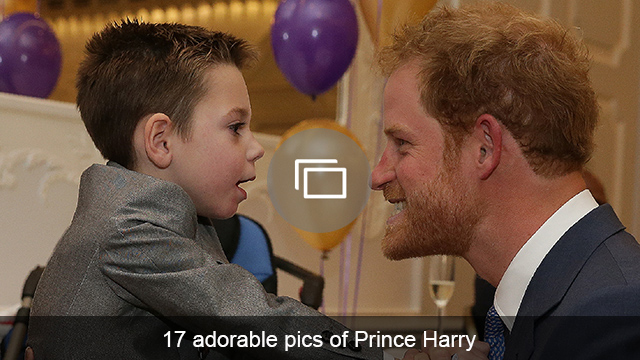 Prince Harry with kid