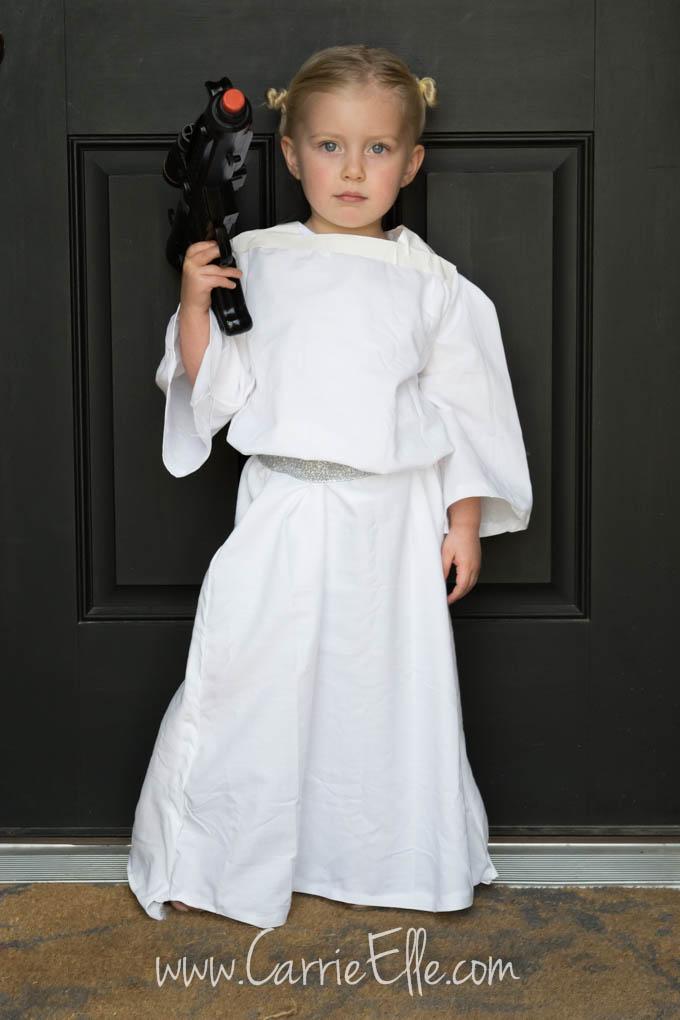 Princess Leia Bedsheet Costume