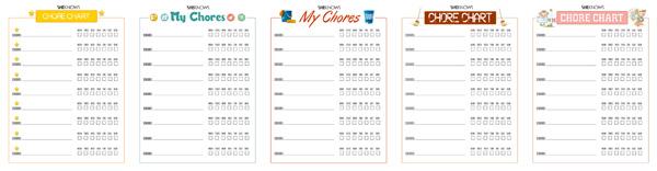 Chore chart printable | SheKnows.com