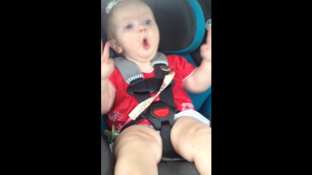 That face! Baby girl rocks out