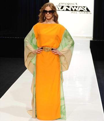 Project Runway -- Steal the look Episode 4 -- Mondo's orange dress
