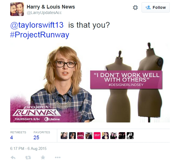 Project Runway tweet