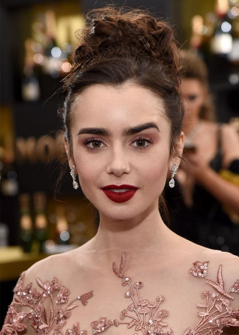 Best Celebrity Braids: Lily Collins | Celeb Hair Inspo 2017