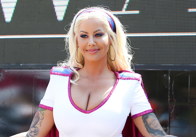 Amber Rose attends the 3rd annual Amber Rose SlutWalk